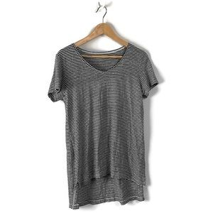 EUC Eileen Fisher Striped Organic Linen Tee Size S